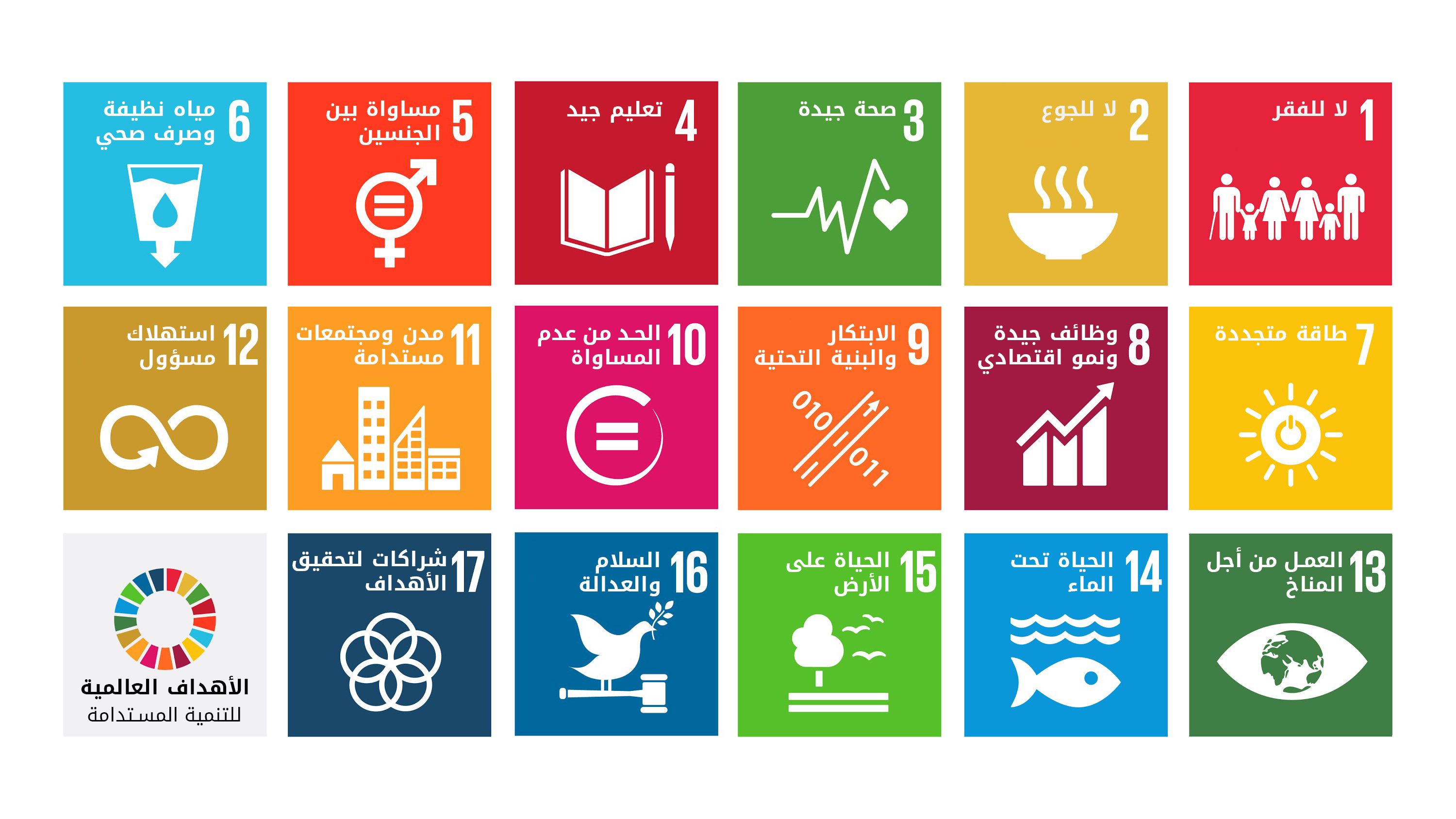 Global Goals for Sustainable Development Arabic